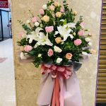 Best Wishes Opening Flowers Stand