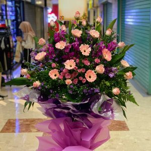 Purple Triumph Opening Flowers Stand