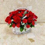 Red Desire Flower Basket