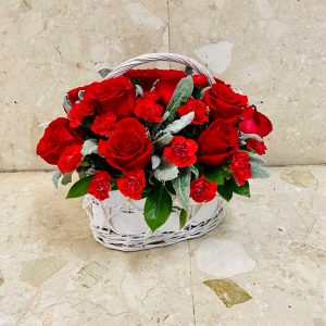 Red Desire Flower Basket